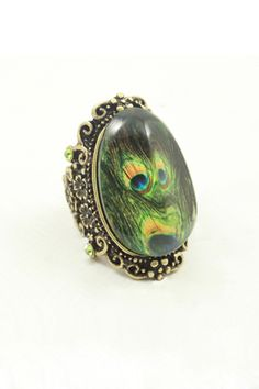 Cheap feather ring, Buy Quality finger ring directly from China fashion rings Suppliers: Fashion accessories vintage decorative pattern peacock feather ring female male finger rings Peacock Jewelry, Sparkly Jewelry, Jewelry Rings, Jewellery, Vintage Accessories, Fashion Accessories, Peacock Design, Latest Street Fashion, Summer Essentials