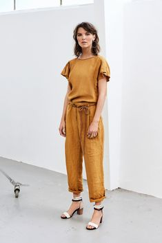 HUMANOID SANA. Wide tapered trousers. Now in Humanoid's online store: www.shophumanoid.com. Next-day delivery for items ordered before 3:00 PM. Shop now! Mango Mojito, Tapered Trousers, Shop Now, Pantone, Runway, Store, Summer, Shopping, Clothes
