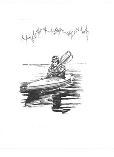 This black and white pen and ink art was commissioned by the Fish and Wildlife Federation. It was used as public domain clip art and was one of many pieces which I created. #FishAndWildlifeFederation #PenAndInkArt #BlackAndWhiteArt #CommissionArt #Art #PeopleArt #SpotIllustrations #KayakArt