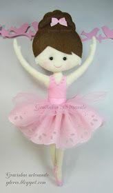 Handmade with love Felt Diy, Felt Crafts, Fabric Crafts, Ballerina Doll, Ballerina Birthday, Felt Dolls, Doll Toys, Cute Piggies, Felt Patterns
