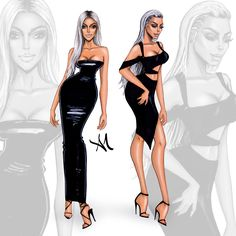 Kim Kardashian West NYFW - by Armand Mehidri Fashion Designer, Diva Fashion, Fashion Week, Fashion Art, Fashion Models, Fashion Looks, Fashion Illustration Sketches, Fashion Sketches, Illustrations