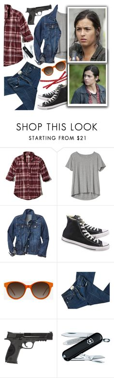 """""""The Walking Dead:Tara"""" by chey-love ❤ liked on Polyvore featuring Hollister Co., Gap, Converse, EyeBuyDirect.com, 3.1 Phillip Lim and Smith & Wesson"""
