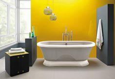 Une salle de bain colorée | BricoBistro