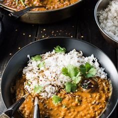 Whip up a vegan lentil curry that'll bring some serious warmth on colder nights. 15 Ways To Sneakily Pack Your Favorite Meals With Protein Vegan Lentil Curry, Vegan Chili, Vegan Breakfast Recipes, Vegan Recipes, Dinner Recipes, Curry Recipes, Chicken Quesadillas, Chicken Taquitos, Chicken Wraps