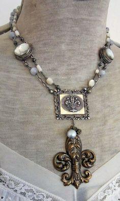 {Fleur de Lis} Handmade Fleur de Lis necklace #FleurdeLis #jewellery #necklace