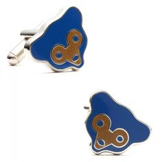 MLB Mens Retro Chicago Cubs Cufflinks with Collectible Gift Box
