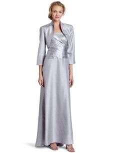 Jessica Howard Womens Mother Of Silver Jacket Dress $148.00