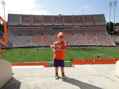 One happy little buddy today when Clemson beat Carolina 35-17!