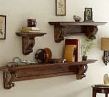 Shop floating shelves from Pottery Barn. Our furniture, home decor and accessories collections feature floating shelves in quality materials and classic styles. Shelf Furniture, Wood Furniture, Furniture Design, Furniture Plans, Pottery Barn Shelves, Wood Shelves, Shelving, Rustic Shelves, Kitchen Shelves