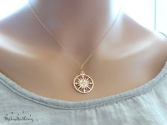 ROSE GOLD Compass necklace Compass Rose by MyTinyStarShining