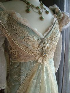 Details about Breathtaking Vintage Victorian Tambour Lace Gibson ...