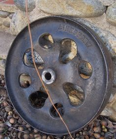 Antique Industrial Factory Cart Cast Iron Wheel $60