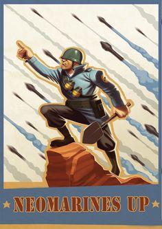 """Página 2 (contraria a la editorial de TDC) edición de un cartel para un concurso de """"Team Fortress"""" del cual no soy autor."""