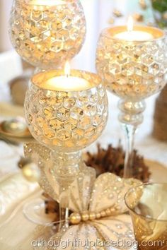 Gold reflects the candlelight to create a shimmering glow that is truly magical!