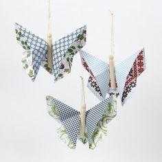 Sommerfugl i origami af London designpapir fra Vivi Gade