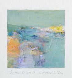 "June 10, 2017 9 cm x 9 cm (app. 4"" x 4"") oil on canvas  © 2017 Hiroshi Matsumoto"