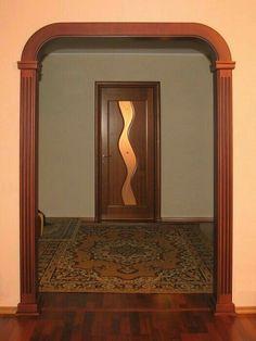 Interior Columns, Interior Exterior, Exterior Design, Door Frame Molding, Wall Molding, Door Frames, Door Design, Wall Design, House Design