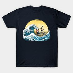 GOING MERRY BY HOKUSAI T-Shirt - One Piece T-Shirt is $14 today at TeePublic!