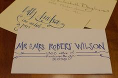 Custom Hamd-Addressed Envelopes for Any Occasion- Formal Fonts. $0.95, via Etsy.