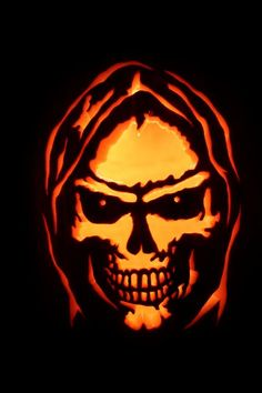 Grim Reaper Photo:  This Photo was uploaded by Pumpkinman_01. Find other Grim Reaper pictures and photos or upload your own with Photobucket free image a... Scary Pumpkin Carving, Halloween Pumpkin Stencils, Creepy Pumpkin, Pumpkin Carving Patterns, Pumpkin Art, Pumpkin Crafts, Halloween Pumpkins, Pumpkin Ideas, Grim Reaper Halloween