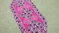 Pink and Black Table Runner With Hearts by HandmadeTableLinens, $42.00