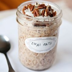 overnight chai oats. I don't think I will do the overnight part with the steel oats, but the spice blend sounds soooo yummy.