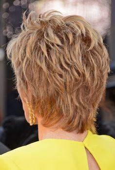 Jane Fonda Actress Jane Fonda (hair detail) arrives at the Oscars at Hollywood & Highland Center on February 24, 2013 in Hollywood, California.