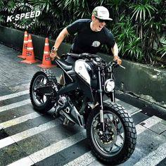 Yamaha  Mslaz M-slaz  Custom by k-speed รถพี่เจ เจตริน