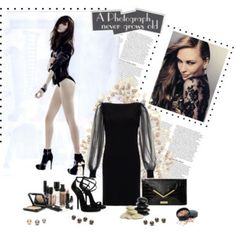"""""""Real Black"""" by gardenia1987 on Polyvore"""