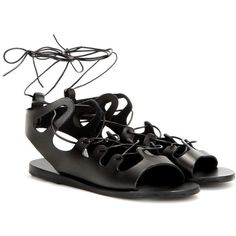 Ancient Greek Sandals Antigone Leather Sandals (295 AUD) ❤ liked on Polyvore featuring shoes, sandals, black, real leather shoes, black leather shoes, black sandals, black leather sandals and kohl shoes