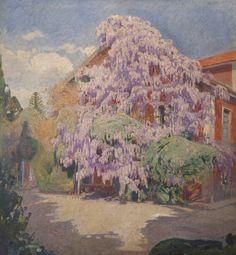 Las glicinas  Autor: Pedro Blanes Viale (1878-1926) Realizado: 1923  Técnica: Óleo  Soporte: Tela  Medidas: 130 x 120 cm