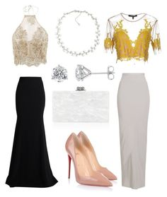 """""""Prom looks"""" by boturovic-kristina on Polyvore featuring Roland Mouret, Rick Owens, For Love & Lemons, Carolee, Christian Louboutin and Edie Parker"""