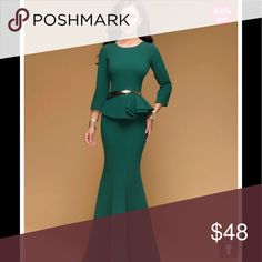 Jade Green gorgeous dress Purchased for wedding but too big for me. Does not come with belt. Size is a 9/10 even though it dont have a size  tag.  Brand new. Hot dress Dresses Maxi