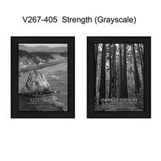 """V267-405 """"""""Strength"""""""" (Black&White/Grayscale)"""