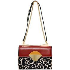 SARA BATTAGLIA Monica Printed Ponyskin & Leather Bag ($1,513) `
