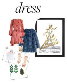 """""""dress and color..."""" by evabimbaio ❤ liked on Polyvore featuring iCanvas, Shrimps, Alexandre Birman, Sophia Webster, Siman Tu, Zimmermann, Yves Saint Laurent and Vintage"""