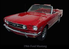 """""""1966 Ford Mustang Convertible"""" by fellow artist/photographer Christopher Flees."""