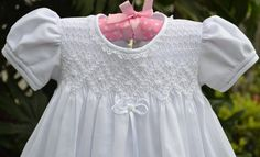 Handmade Smocked Christening Baptism Gown Dress by Poropototos