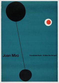 """Joan Miró"", (Kunsthalle Basel Exhibition Poster), Swiss, - Graphic Designed by Emil Ruder International Typographic Style, International Style, Design Textile, Design Art, Swiss Design, Exhibition Poster, Graphic Design Typography, Typography Poster, Grafik Design"