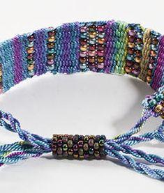 bead loom bracelet clasp - Google Search