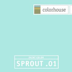 Colorhouse SPROUT .01: Like a baby robin's egg. Soft and fuzzy like fleece. Sweet sleep. Gender neutral.