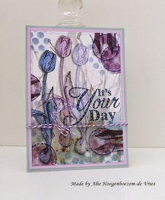 Alie Hoogenboezem-de Vries: Stamped card - It's Your Day...