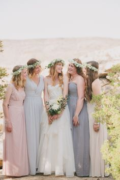 Watters Norma Wedding Gown | DIY bohemian desert wedding | Photo by Fondly Forever Photography