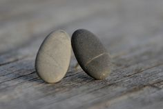 Pebble ear studs from etsy . . . .  now to go in search of pebbles!