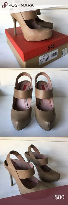 5/48 heels from Saks Ave! Gently worn heels in quail color. Still have original box, great condition. 4.5 inch heels. Let me know if you have any questions! Size 7.5 5/48 Shoes Heels