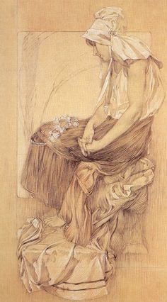 Inspirational Artworks: Mucha drawing