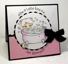 Designed by Lori Barnett. Stamps from Crafter's Companion  S.W.A.L.K. Collection - Time Out set.