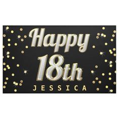 Shop Happy Bling Typography Gold Confetti Black Banner created by GroovyGraphics. Personalize it with photos & text or purchase as is! Happy Birthday Celebration, 90th Birthday Parties, Happy Birthday Funny, Happy Birthday Images, Happy Birthday Banners, Happy Birthday Typography, Black Banner, Happy 40th, Shower Banners