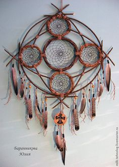 Ideas for handmade – Dream catcher with their own hands pictures) + Process of making Buy Dream Catcher, Dream Catcher Craft, Dream Catcher Mobile, Native Art, Native American Art, Dream Catcher Native American, Dreams Catcher, Los Dreamcatchers, Medicine Wheel