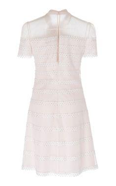 Aster Polka-Dot Tulle Shift Dress by Jenny Packham Karen Page, Short Sleeves, Short Sleeve Dresses, Jenny Packham, Aster, News Design, Polka Dots, Tulle, White Dress